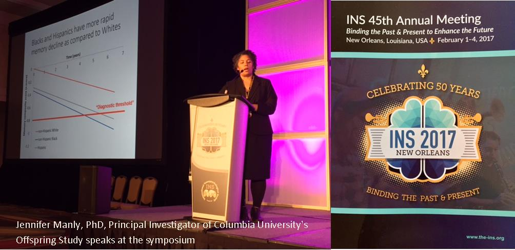 Short Work-in-Progress Clip Screened at International Neuropsychological Society Symposium